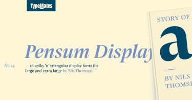Pensum Display Super Family [18 Fonts] | The Fonts Master