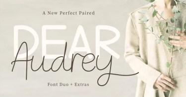 Dear Audrey [3 Fonts] | The Fonts Master
