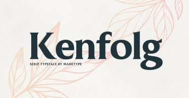 Made Kenfolg [1 Font] | The Fonts Master