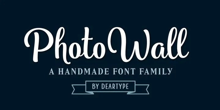 Photowall [16 Fonts] | The Fonts Master