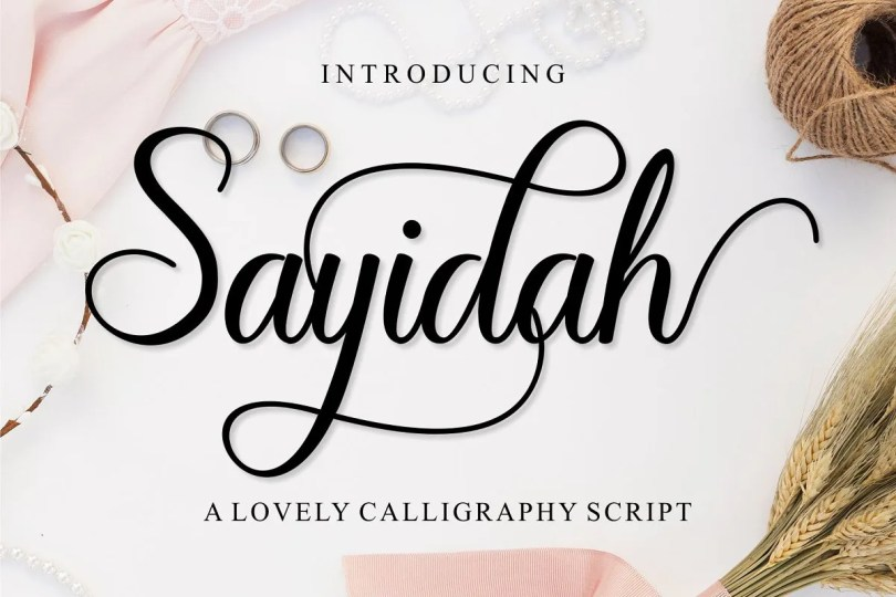 Sayidah [1 Font]   The Fonts Master