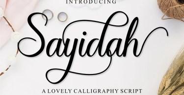 Sayidah [1 Font] | The Fonts Master