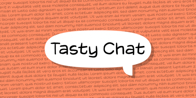Tasty Chat [3 Fonts]   The Fonts Master