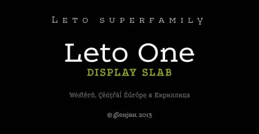 Leto One Super Family [7 Fonts] | The Fonts Master