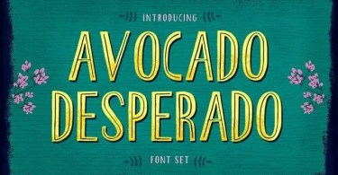 Avocado Desperado [4 Fonts] | The Fonts Master