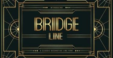 Bridge Line [1 Font]   The Fonts Master