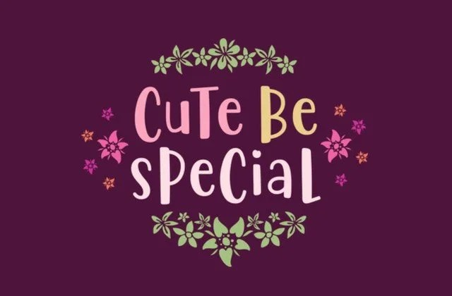 Cute Be Special [1 Font]   The Fonts Master