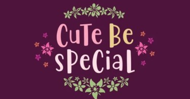 Cute Be Special [1 Font] | The Fonts Master