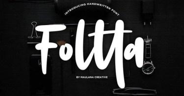 Foltta [2 Fonts] | The Fonts Master