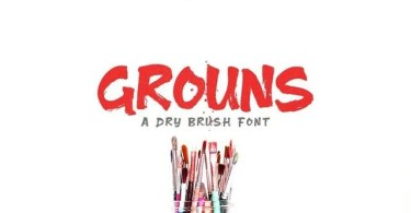 Grouns [1 Font] | The Fonts Master