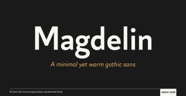 Magdelin Super Family [40 Fonts] | The Fonts Master
