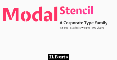 Modal Stencil Super Family [15 Fonts] | The Fonts Master