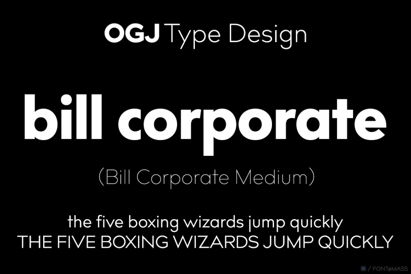 Bill Corporate Medium Super Family [16 Fonts] | The Fonts Master