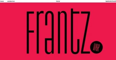 Tt Frantz [3 Fonts] | The Fonts Master