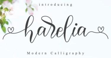 Harelia Script [1 Font] | The Fonts Master