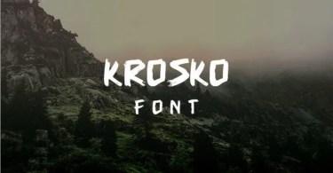 Krosko [1 Font] | The Fonts Master