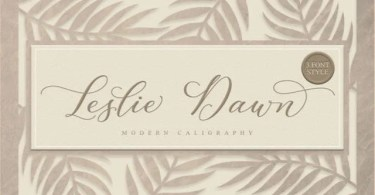 Leslie Dawn [3 Fonts]