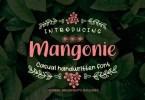 Mangonie [1 Font] | The Fonts Master