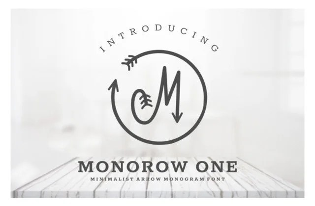 Monorow [1 Font] | The Fonts Master
