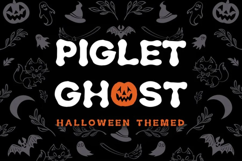 Piglet Ghost [1 Font] | The Fonts Master