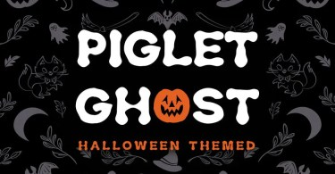 Piglet Ghost [1 Font]   The Fonts Master