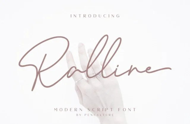 Ralline [2 Fonts]   The Fonts Master