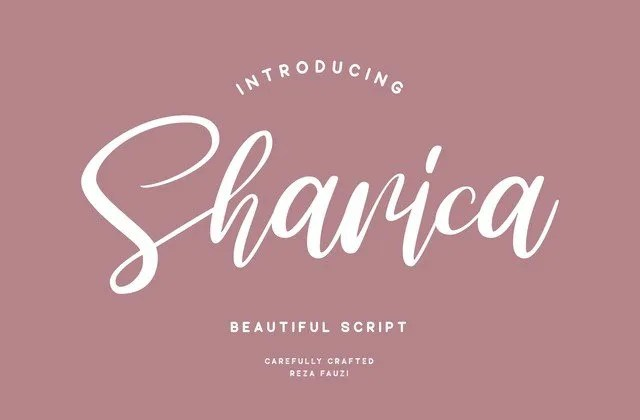 Sharica [1 Font]   The Fonts Master