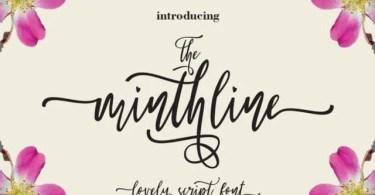 The Minthline Script [1 Font]