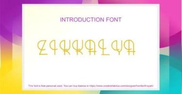 Zikkalya [1 Font]   The Fonts Master