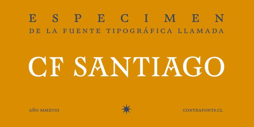 Cf Santiago [1 Font] | The Fonts Master