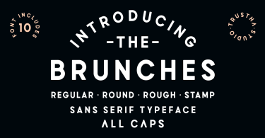 Brunches [10 Fonts] | The Fonts Master
