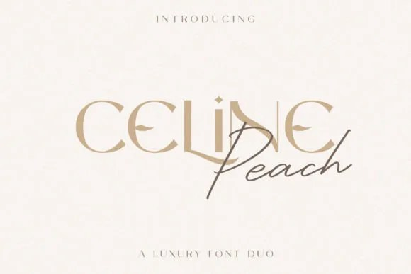 Celine Peach [2 Fonts] | The Fonts Master