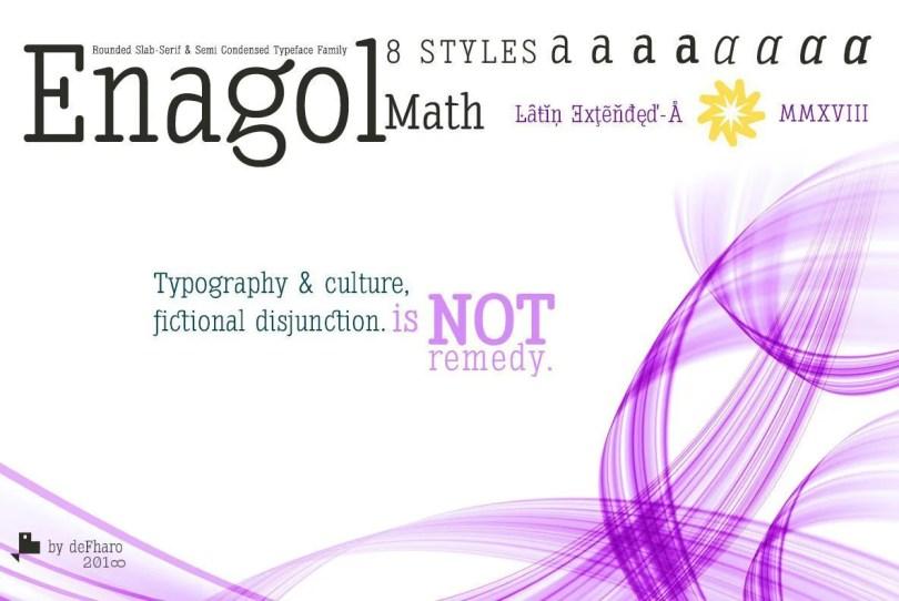 Enagol Math [8 Fonts] | The Fonts Master