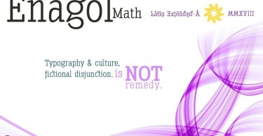 Enagol Math [8 Fonts] | The Fonts Master