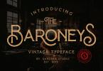 Baroneys [2 Fonts] | The Fonts Master