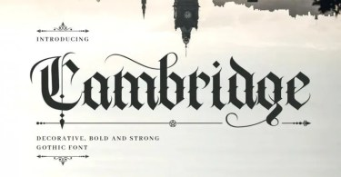 Cambridge [1 Font] | The Fonts Master