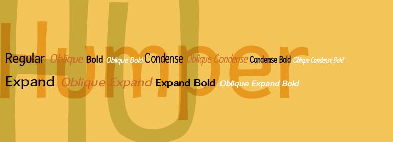 Humper [12 Fonts] | The Fonts Master