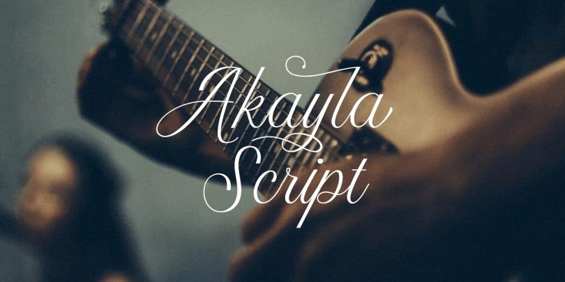 Akayla Script [2 Fonts]   The Fonts Master