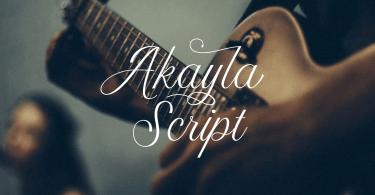 Akayla Script [2 Fonts]