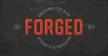 Forged [4 Fonts] | The Fonts Master