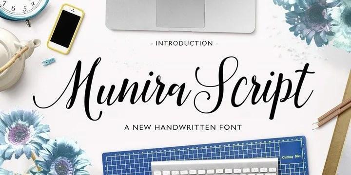 Munira Script [1 Font] | The Fonts Master