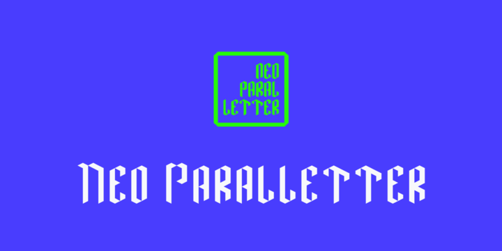Neo Paralletter [1 Font] | The Fonts Master