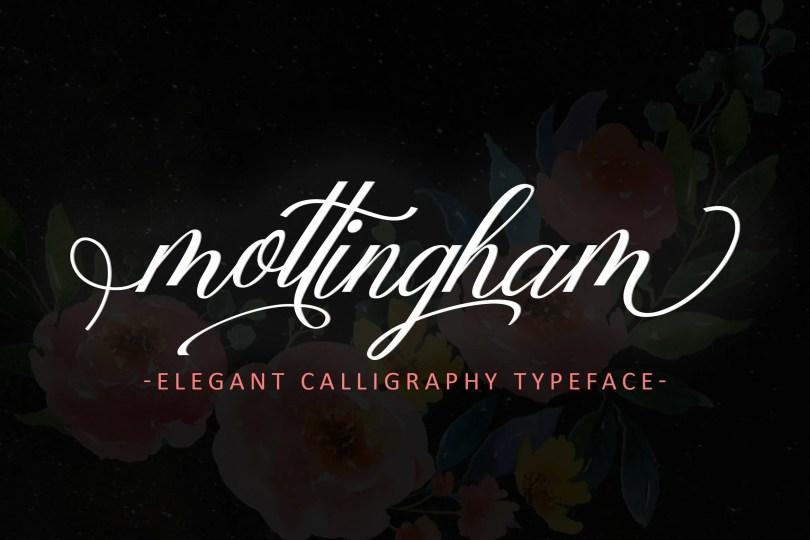 Mottingham Elegant Calligraphy [1 Font] | The Fonts Master