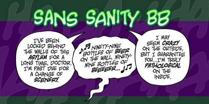 Sans Sanity Bb [3 Fonts]   The Fonts Master