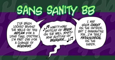 Sans Sanity Bb [3 Fonts] | The Fonts Master