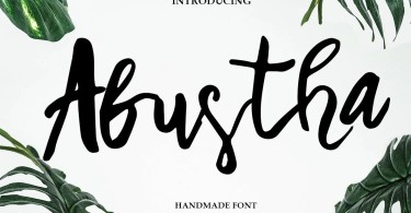 Abustha [1 Font] | The Fonts Master