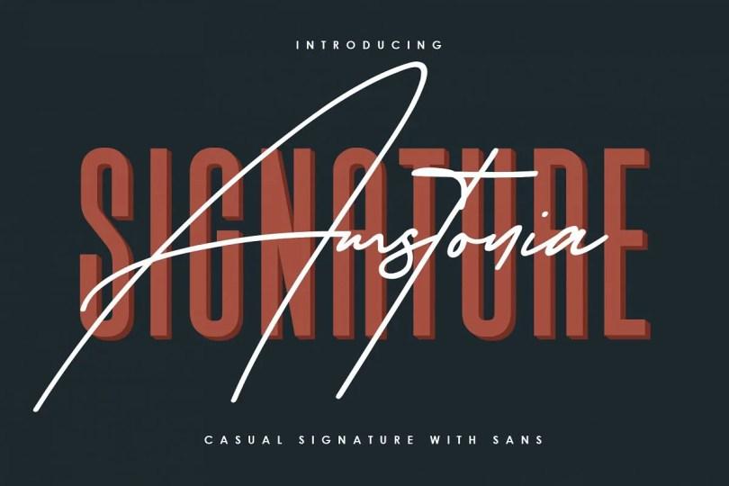 Amstonia Signature [2 Fonts] | The Fonts Master