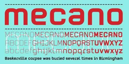 Mecano [4 Fonts]   The Fonts Master