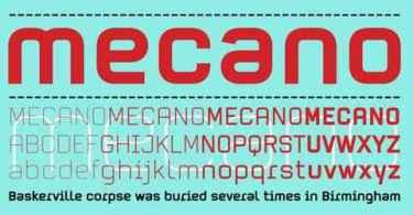 Mecano [4 Fonts] | The Fonts Master