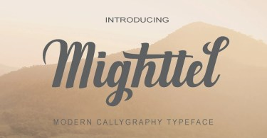 Mighttel [1 Font] | The Fonts Master